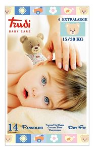Trudi - Baby Care Pannolino Dry Fit Xl 15/30 Kg  Confezione 14 Pezzi