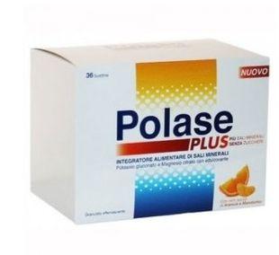Polase - Plus Integratore Di Sali Minerali Gusto Arancia e Mandarino Confezione 36 Bustine