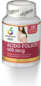 Optima naturals - Colours Of Life Acido Folico Confezione 120 Compresse