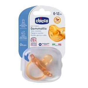 Chicco - Succhietto Gommotto Physio In Caucciù 6-12M Confezione 1 Pezzo