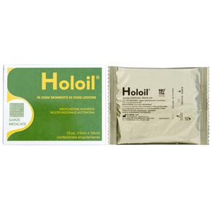 Holoil - Confezione 10 Garze 10x10 Cm