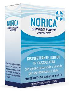Norica - Disinfettante Puravir Fazzoletti Confezione 10 Pezzi