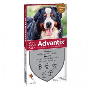Advantix Spot-On - Antiparassitario Per Cani 40-60 Kg Confezione 4X6 Ml