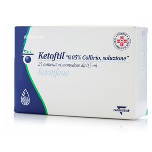 Ketoftil - Collirio Confezione 25X0.5 Ml Contenitori in Polietilene