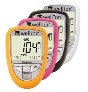 Wellion - Luna Duo Pink Confezione Kit + 10 Strisce Reattive + 10 Lancette Monouso