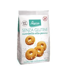 Lazzaroni - Frollini Con Panna Senza Glutine Confezione 200 Gr (Scadenza Prodotto 15/09/2021)