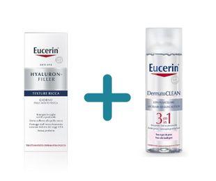 Eucerin - Hyaluron Filler Giorno Ricca Confezione 50 Ml + OMAGGIO Dermatoclean Micellare Confezione 400 Ml