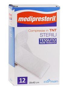 Medipresteril - Garza Compressa Sterile Tessuto Non Tessuto 18X40CM Confezione 12 Pezzi