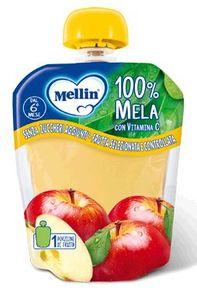 Mellin - Pouches 100% Mela Confezione 90 Gr (Scadenza Prodotto 10/01/2021)