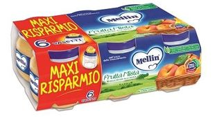 Mellin - Omogeneizzato Frutta Mista Confezione 6X100 Gr