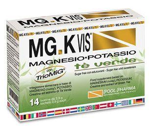 MG K Vis - Integratore Magnesio e Potassio Gusto Tè Verde Confezione 14 Bustine