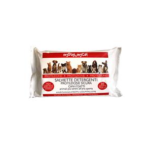 My Dog & My Cat - Salviette Detergenti Protezione Sicura per Cani e Gatti Confezione 30 Pezzi