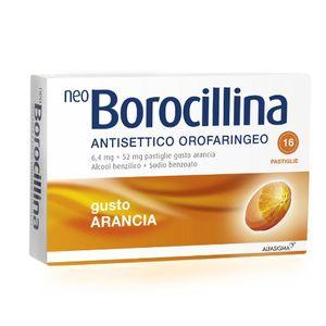 Neoborocillina - Antisettico Orofaringeo Arancia Confezione 16 Pastiglie (Scadenza Prodotto 30/09/2021)