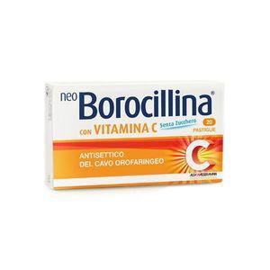 Neoborocillina - Con Vitamina C Senza Zucchero Confezione 16 Pastiglie