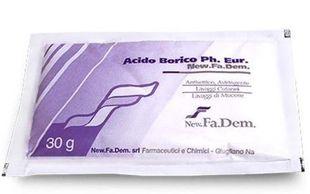 New. Fa.Dem. - Acido Borico Polvere F.U. Confezione 30 Gr
