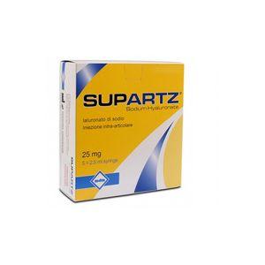 Supartz - Siringa Intrarticolare Confezione 5 Siringhe Preriempite Da 2,5 Ml (Dispositivo Medico CE)