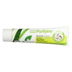Optima naturals - Dr Organic Fresh Breath Purifying Dentifricio Tea Tree Toothpaste Confezione 100 Ml