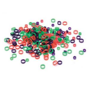 Paki 43 - Confezione 100 Elastici Colorati Misura 4/16 (Scadenza Prodotto 28/03/2022)