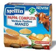 Mellin - Pappa Completa Manzo Confezione 2X250 Gr