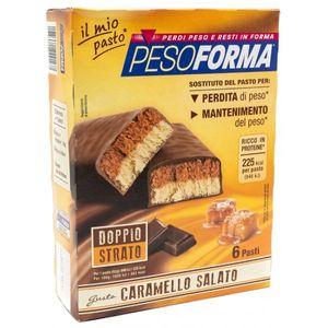 Pesoforma - Barretta Caramello Salato Confezione 12 Barrette