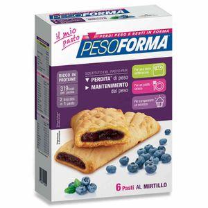 Pesoforma - Biscotto Farcito Gusto Mirtillo Confezione 12 Biscotti