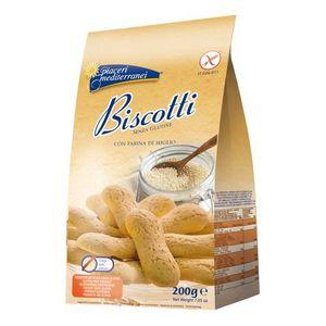 Piaceri Mediterranei - Biscotti Farina Miglio Senza Glutine Confezione 150 Gr