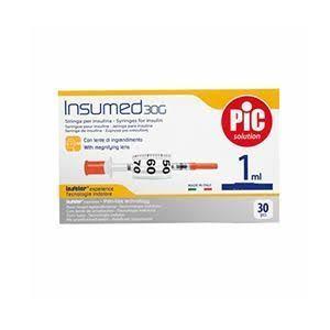 Pic - Insumed Siringa Insulina 1 Ml G30 8 Mm Confezione 30 Pezzi
