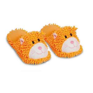 Puppy - Ciabatte Gatto Riscaldabili Profumate Arancione Misura S (32-35)