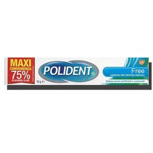 Polident - Free Adesivo Per Dentiere Confezione 70 Gr
