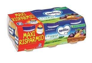 Mellin - Omogenizzato Prugna e Mela Confezione 6X100 Gr