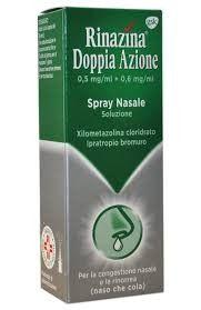 Rinazina - Doppia Azione Spray Nasale Confezione 10 Ml (Scadenza Prodotto 30/05/2021)