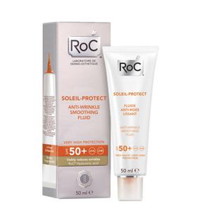 Roc - Solari Crema Fluida Anti Rughe Levigante Spf 50+ Protezione Molto Alta Confezione 50 Ml