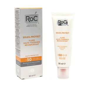 Roc - Solari Crema Fluida Comfort Elevata Tollerabilità Spf 50 Protezione Alta Confezione 50 Ml