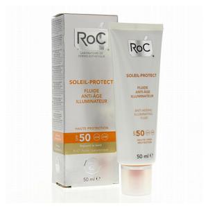 Roc - Soleil Fluida Viso Anti Età Illuminante Spf 50 Confezione 50 Ml