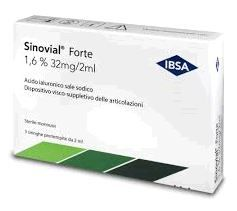 Sinovial - Forte 1.6% Confezione 3 Siringhe Fiala Preriempita Da 2 Ml (Dispositivo Medico CE)