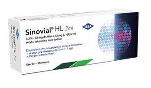 Sinovial - HL 3.2%  Fiala Acido Ialuronico Confezione 1 Fiala Siringa Preriempita 2 Ml (Dispositivo Medico CE)