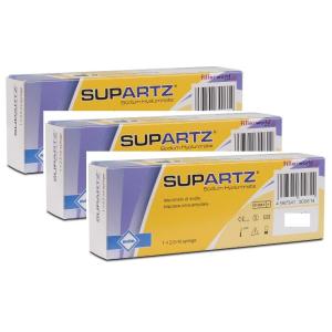 Supartz -  Siringa Intrarticolare Confezione 3 Siringa Fiala Preriempita  2,5 Ml (Dispositivo Medico CE)
