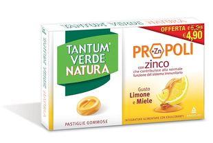 Tantum Verde - Natura Pastiglie Limone & Miele Confezione 15 Pastiglie