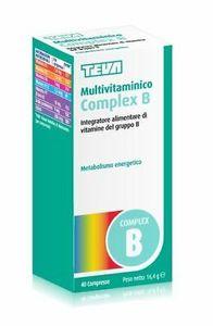 Teva - Multivitaminico Complex B Confezione 40 Compresse (Scadenza Prodotto 28/11/2021)