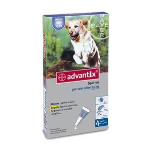 Advantix Spot-On - Antiparassitario Per Cani 24-40 Kg Confezione 4X4 Ml