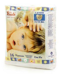 Trudi - Baby Care Pannolino Dry Fit Junior 11/25 Kg Confezione 16 Pezzi