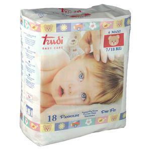 Trudi - Baby Care Pannolino Dry Fit Max 7/18 Kg Confezione 18 Pezzi