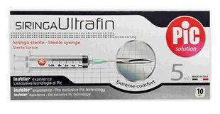 Pic - Siringhe 5 Ml Ago 14 Ultrafin Confezione 10 Pezzi