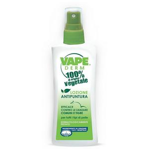 Vape - Derm 100% Di Origine Vegetale Lozione Antipuntura Confezione 100 Ml